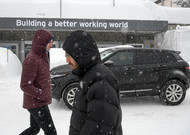 Davos on the eve of the launch of the World Economic Forum in Davos on 21 January