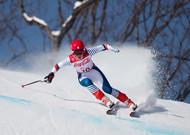 In Pyeongchang gewann Marie Bochet das Rennen vor dem deutschen Andrea ...