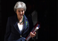 British Prime Minister Theresa May leaves 10 Downing Street on July 13th