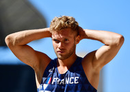 Frenchman Kevin Mayer, after the 0, decathlon length, championship ...