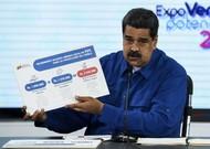 Le président vénézuélien Nicolas Maduro lors d'une conférence de presse annonçant ...