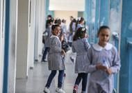 Retour à l'école à l'école Unwra de la ville de Gaza