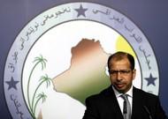 Le président du Parlement irakien, Salim al-Jabouri, prend la parole lors d'une conférence ...