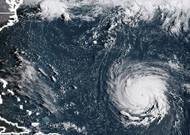 Photo satellite de l'ouragan Florence à 12h15 le 10 septembre 2018.
