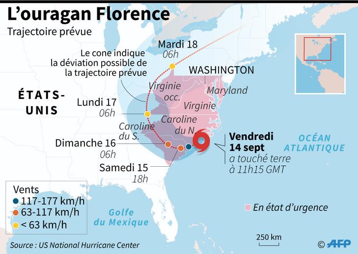 Ouragan Florence / AFP
