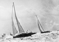 Olympus Photo sailboat by Mike Birch (foreground) overtakes Mik's Kriter V ...