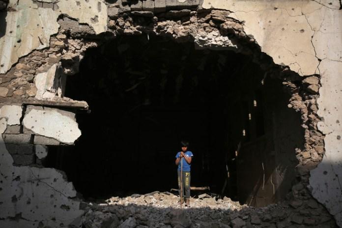 After a bombing, in Mosul (Iraq), on March 14, 2018./AHMAD AL-RUBAYE / AFP