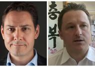 Die beiden Kanadier wurden am 10. Dezember in China festgenommen: Michael Kovrig (links) ...