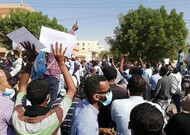 Demonstration in Khartoum, Sudan, on December 25, 2018.