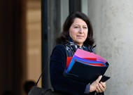 Minister of Health Agnès Buzyn at the exit of the Council of Ministers, Wednesday ...
