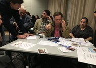 During the Grand Debate organized by L'Arche on Monday, February 25th, with people from ...