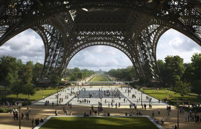 6million people climb the Eiffel Tower every year./MIR for Gustafson Porter + Bowman