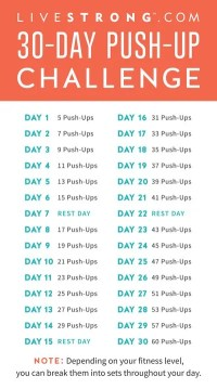 The 30-Day Push-Up Challenge | LIVESTRONG.COM