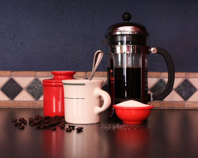The French press process does not use a filter, which remove diterpenes.