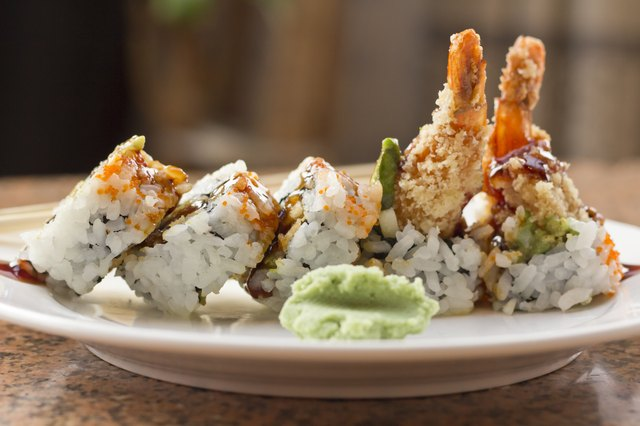 Shrimp tempura rolls are very high in sodium.