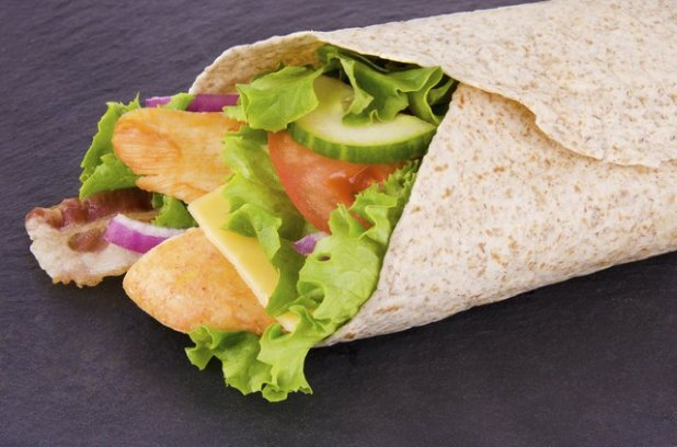 Try a whole wheat wrap for lunch.