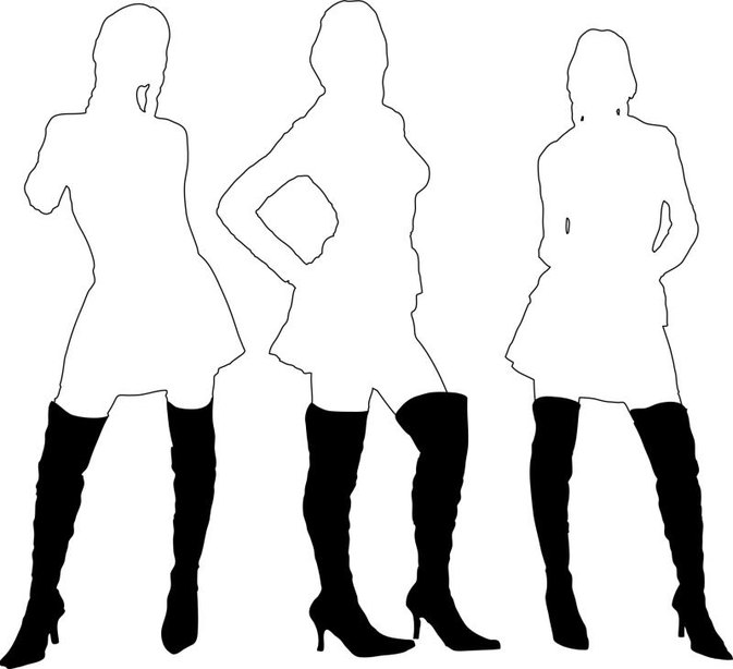 How to Keep Thigh-High Boots From Rolling Down