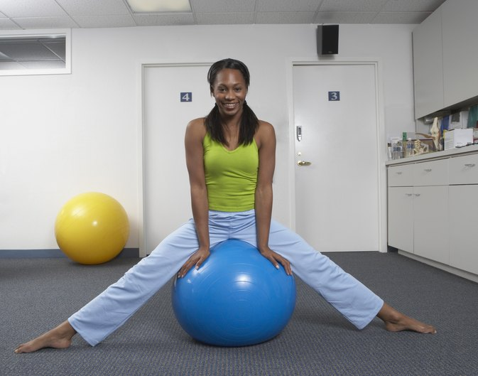 Exercise Ball Chair Exercises  LIVESTRONGCOM