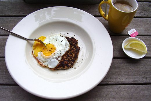 8. Sunny-Side-Up Breakfast Sausage