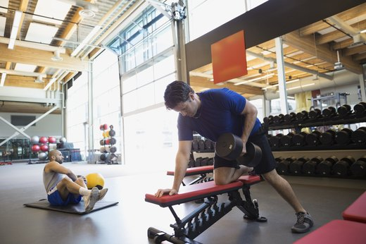 9. Replace Seated Rowing Machine With One-Arm Dumbbell Row