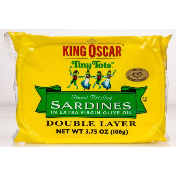 King Oscar - Sardines Brisling Tiny Tots In Olive Oil