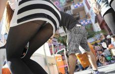 街撮り中心の黒タイツ・黒パンスト姿画像