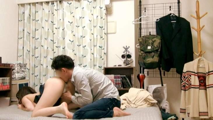 彼氏がいない歴3年の神乳Gカップ(20)を部屋に連れ込みSEX隠し撮り10