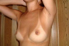 【夏の思い出】日焼けの跡が残る彼女やセフレのセックス前後のヌード画像Vol.2