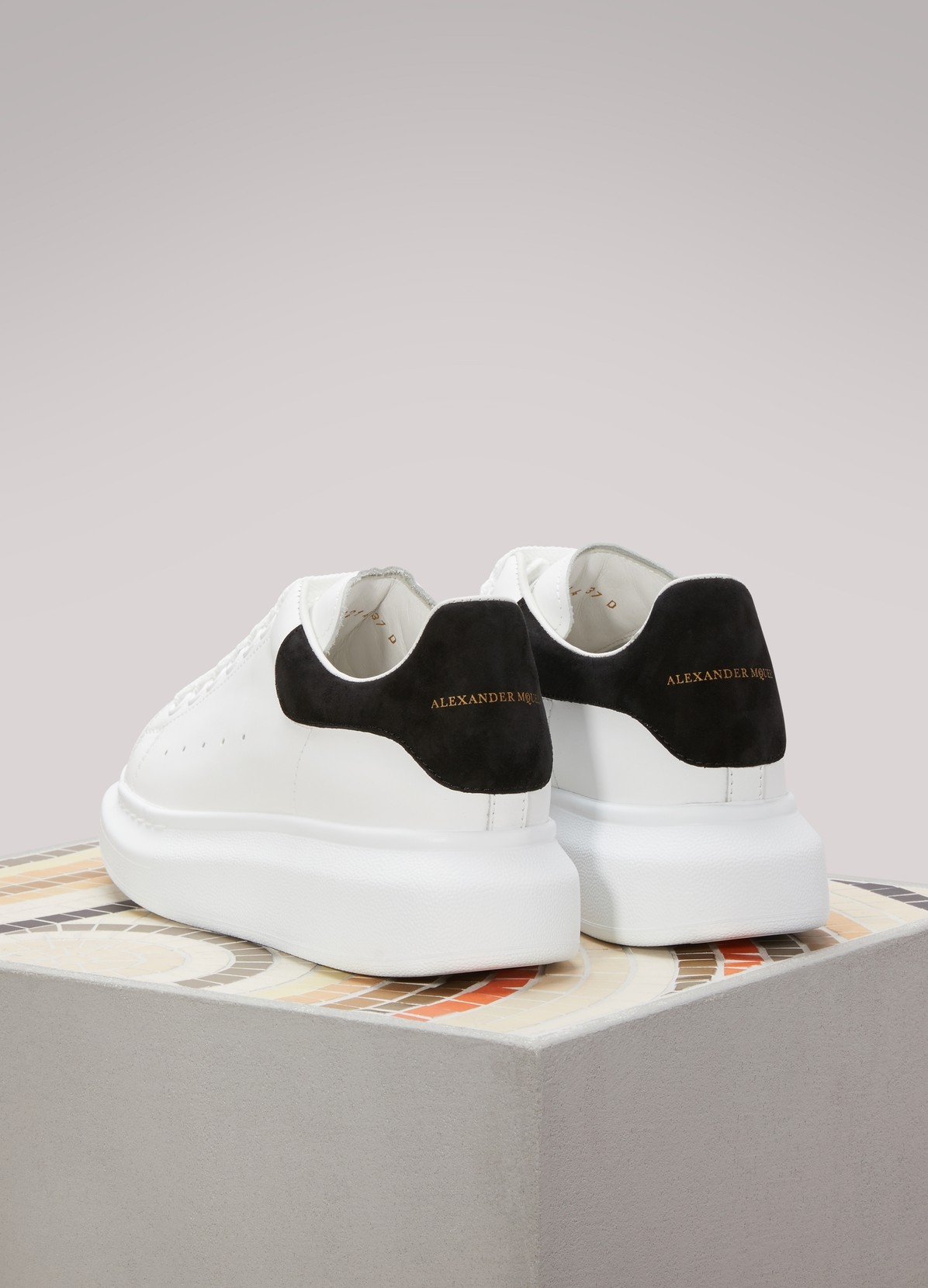 Suede Detail Leather Sneakers  ALEXANDER MCQUEEN  24 Svres