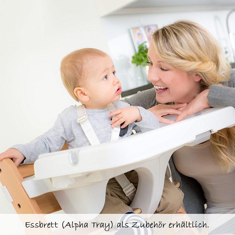 Hauck Hochstuhl Holz Baby Kinder Alpha + Plus
