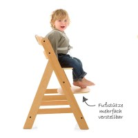 Hauck Hochstuhl Holz Baby Kinder Alpha + Plus - Natur ...