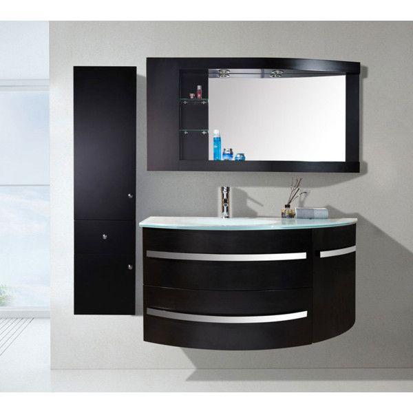 Mobile bagno Desy 12030 cm nero o bianco lavabo in