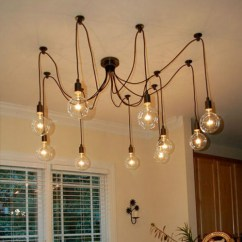 Ceiling Lights For Living Room India Comfy Chairs 10 Edison Retro Spider Chandelier Pendant Light 110 ...