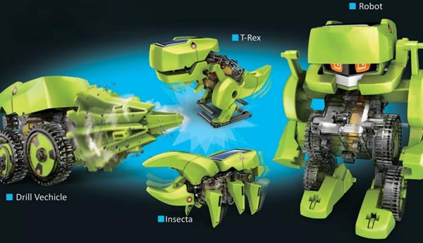 4 In 1 Solar Robot Educational Model Building Kits DIY