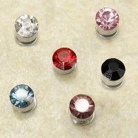 Multicolor Crystal Rhinestone Earring Magnet Stud Earring ...