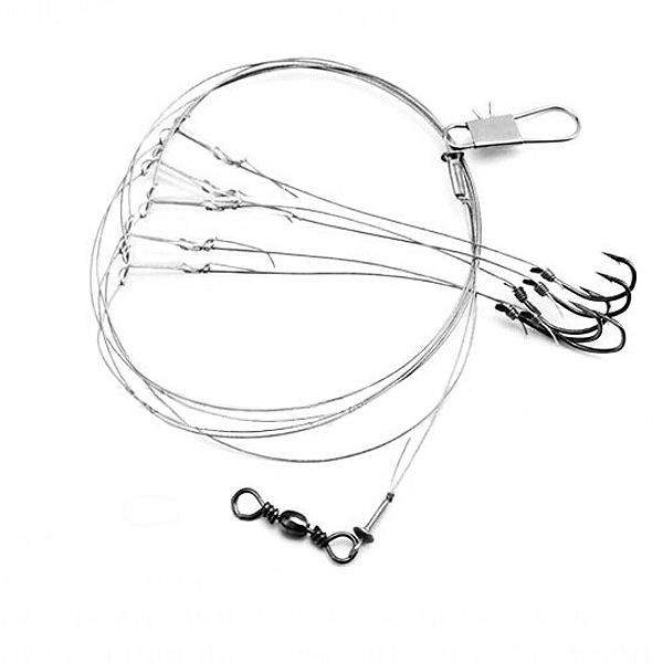 ZANLURE Steel String Hook Barb Fishing Hooks Sea Fishing