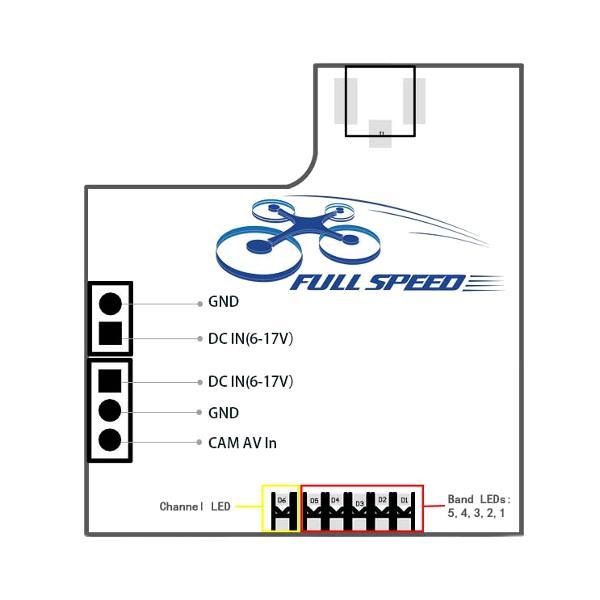FullSpeed FSD-TX200 5.8G 48CH Raceband 25/200mw Switchable