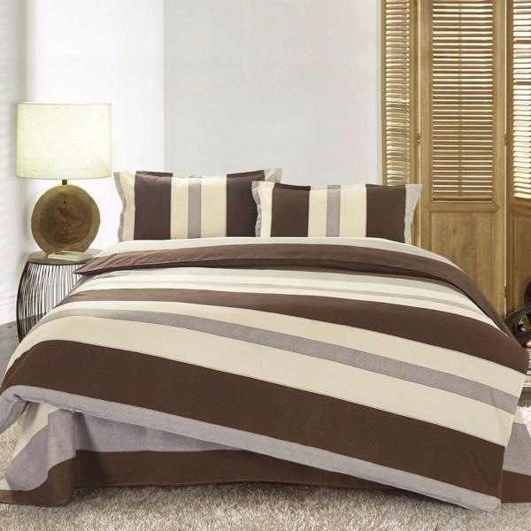 3 4pcs Stripe Cotton Blend Paint Printing Bedding Sets Twin Full Queen Size Banggood