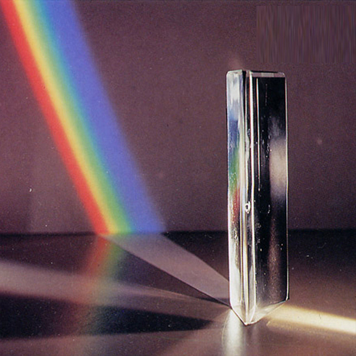 8cm Optical Glass Triangular Triple Prism Physics Teaching Light Spectrum With Stand