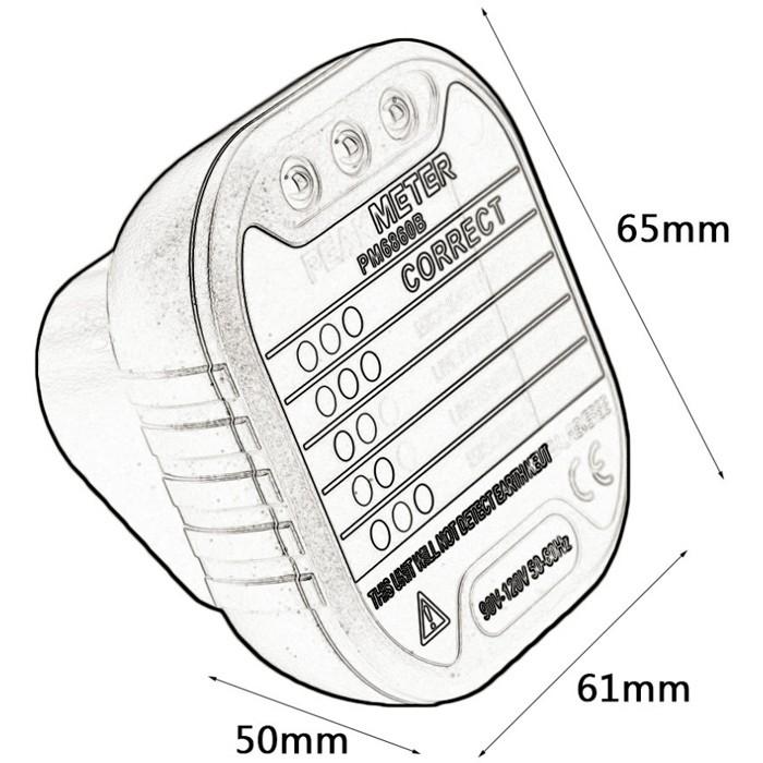 PEAKMETER PM6860BG GFCI/RCD Test Function Socket Detector