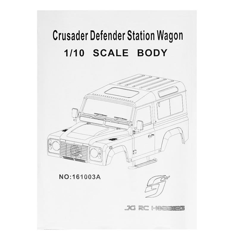 D90 1/10 Crusader Defender Station Wagon Scale Body