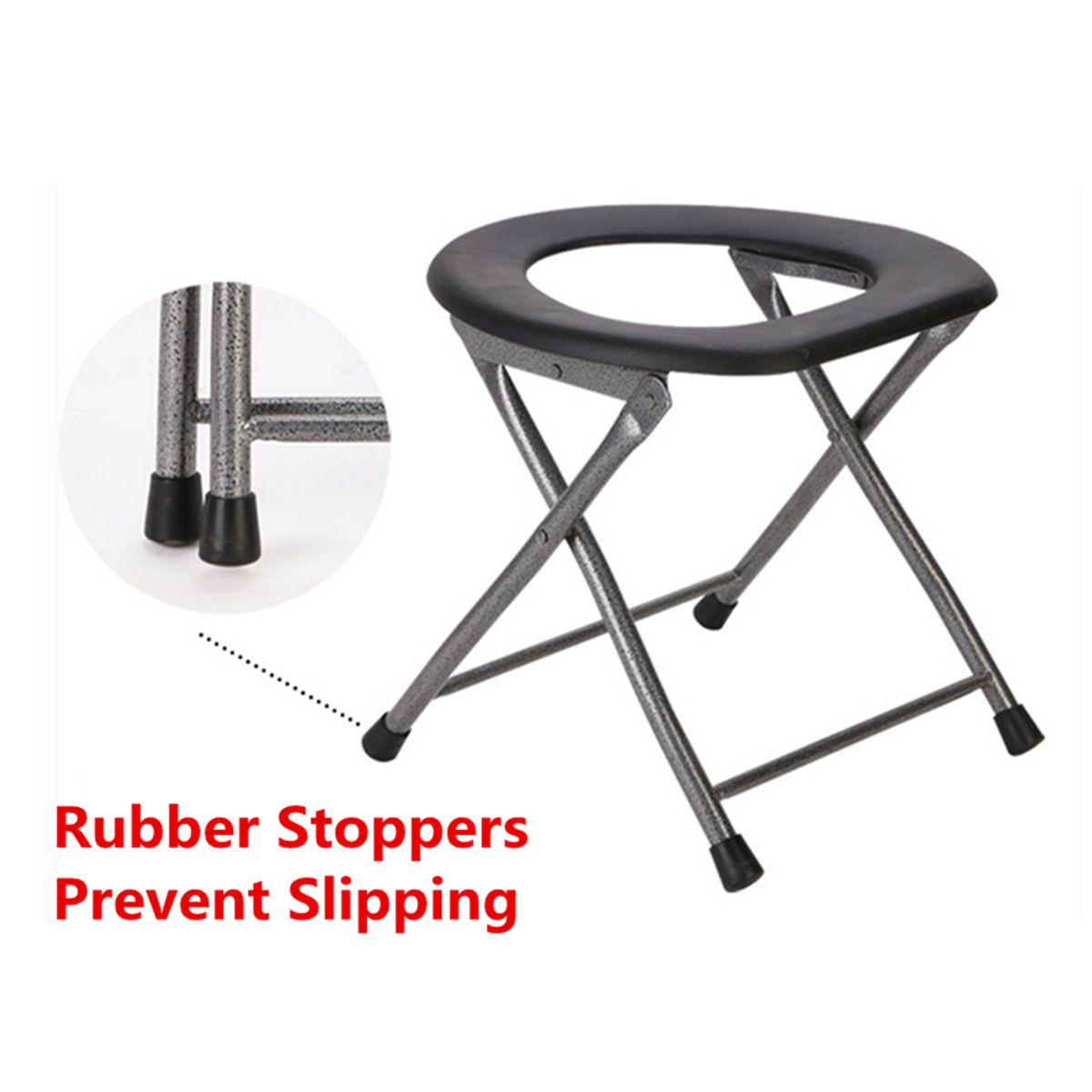 stool chair for toilet lift chairs elderly medicare ipree portable folding old pregnant women sit
