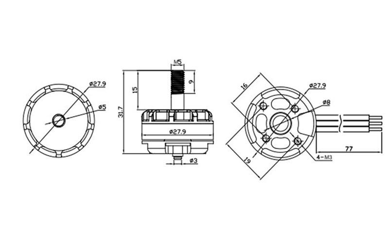 Emax RS2205-2300KV CW/CCW Brushless Motor FVT LittleBee