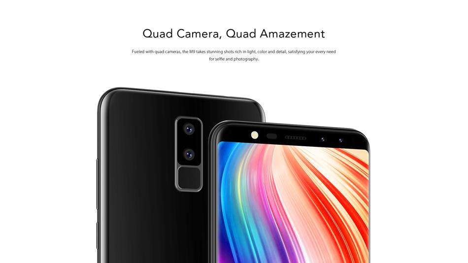 Leagoo M9 5.5 Inch 18:9 Quad Camera 2GB RAM 16GB ROM MT6580A 1.3GHz Quad-Core 3G Smartphone