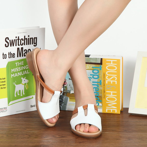 Women Summer Chic Peep Toe Wedge Sandals Strappy Beach Slippers