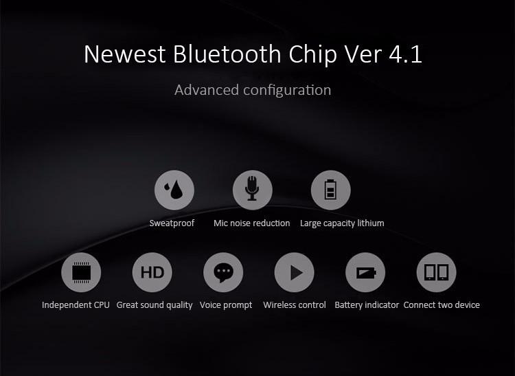 b38b593a2bb Bakeeya, c S4 Sport Running Splash-proof Sweatproof CSR4.1 Bluetooth ...