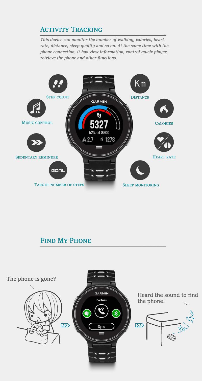 Garmin Forerunner630 Smart Running Watch GPS Sports Heart