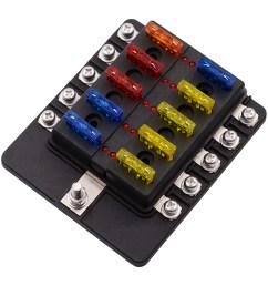 imars 10 way fuse box 12v 32v circuit standard blade block holder kit car caravan [ 2000 x 2000 Pixel ]