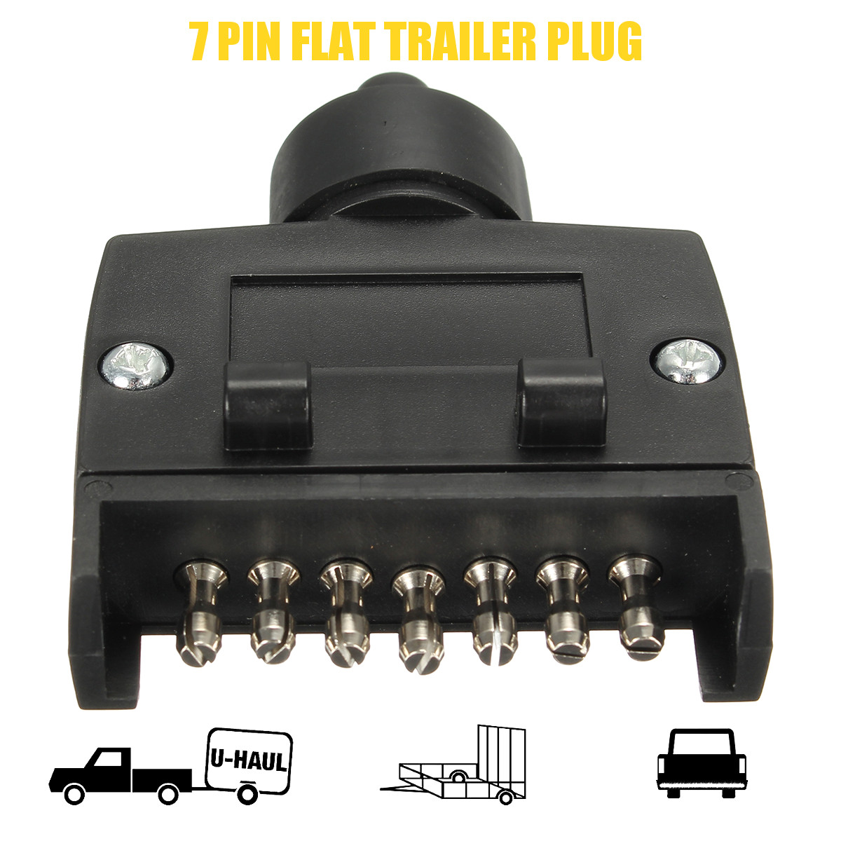 wiring diagram for 7 pin flat trailer connector electronic distributor male plug socket