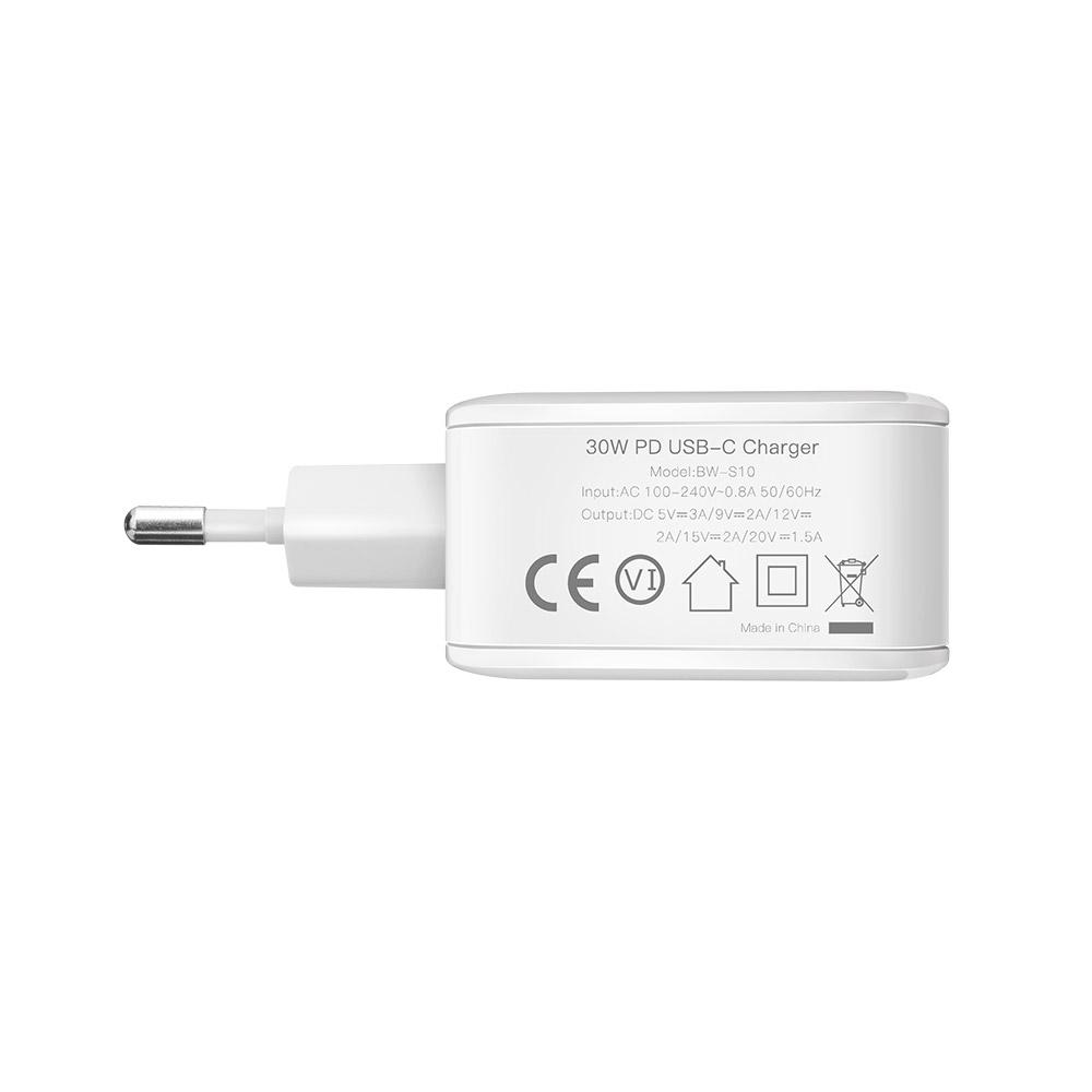 BlitzWolf® BW-S10 30W USB Type-C PD+QC3.0 Fast Charger EU